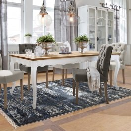 Table Bellevue marron/blanc