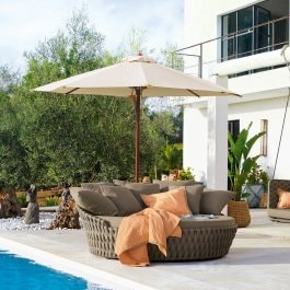 Tuinlounge Torcy taupe