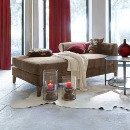 Chaise longue Helchteren taupe