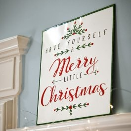 Decoratie schild Merry Merry wit