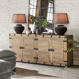 Commode Delhi marron/noir