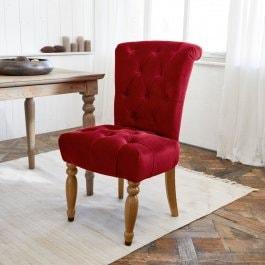 Chaise Claville rouge