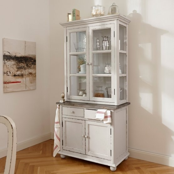 Armoire Sheffield blanc/marron