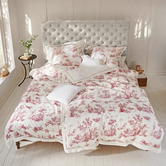 Beddengoed Toile rouge wit/rood